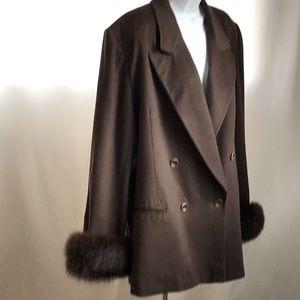 Christian Dior Cashmere Fur Trim Jacket. 12